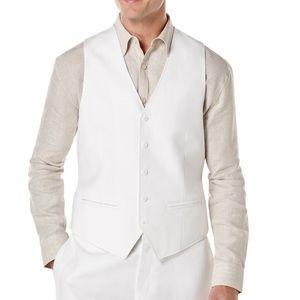 Cubavera White Big & Tall Pinstitched Vest 4XL
